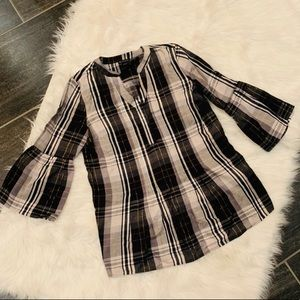 Nwot new direction plaid tunic top